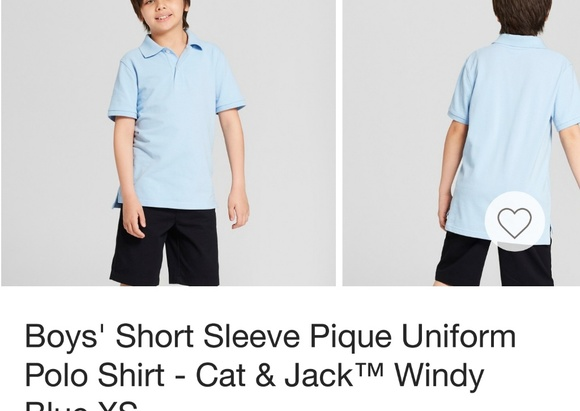 33d3b9bf4 Cat & Jack Shirts & Tops | Boys Blue Uniform Polo Shirt | Poshmark